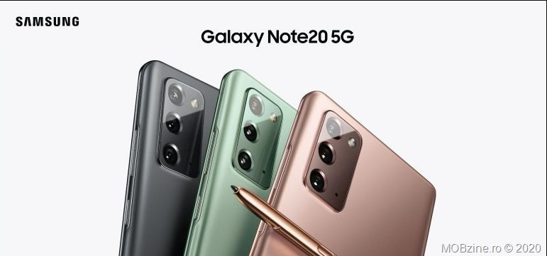 Versiunea Android 11 cu OneUI 3.0 este disponibilă acum și în România, pentru modelele Samsung Galaxy Note20 5G