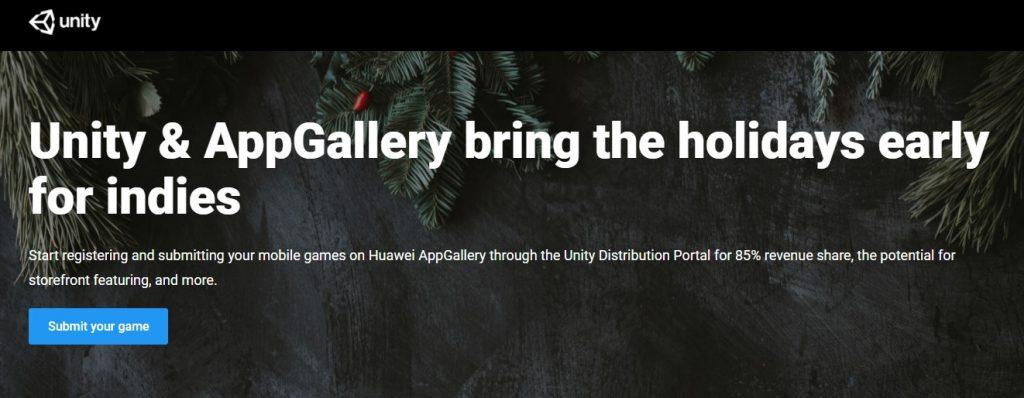 În această perioadă Huawei oferă sprijin puternic pentru dezvoltatorii ce vor publica jocuri în magazinul virtual AppGallery: 30000 EUR pentru reclamă, evidențierea în Indie Game și asistență tehnică.