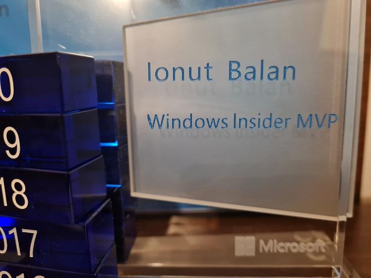 Tocmai ce am fost confirmat Windows Insider MVP pentru încă un an de către Microsoft.