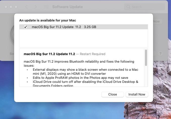 macOS Big Sur 11.2 e disponibil pentru download și vine cu un set de patch-uri pentru Bluetooth, display-urile secundare, iCloud și ProRAW.