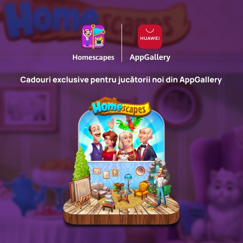 Jocul Homescapes, parte din seria Playrix, poate fi acum instalat și din magazinul de aplicații Huawei AppGallery.