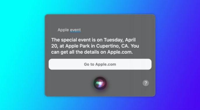 În sfârșit Siri se dovedește util: scapă detalii despre viitoarea lansare Apple de pe 20 aprilie.