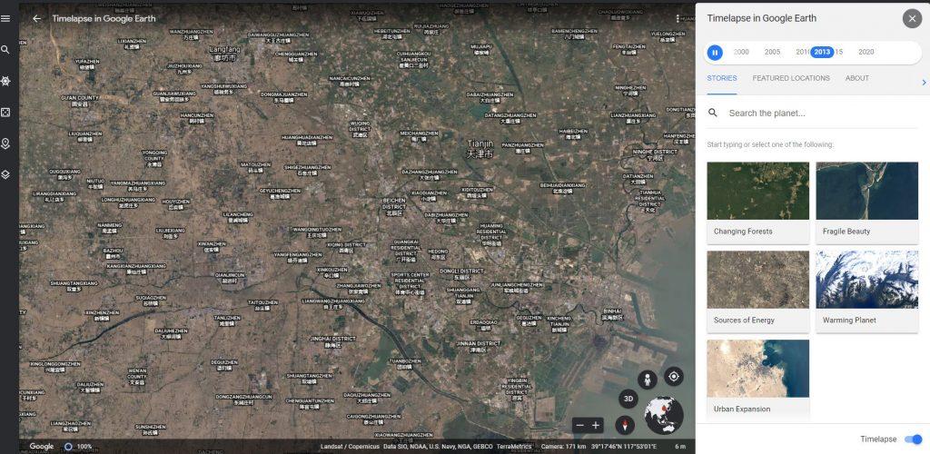 Noua funcționalitate Google Earth Timelapse ne permite să vedem cum s-a schimbat Pământul (în rău!) în ultimii 40 de ani, din cauza încălzirii globale.