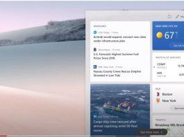 Începând de astăzi utilizatorii de Windows 10 primesc un nou widget pentru Taskbar ce permite afișarea vremii și a știrilor personalizate.