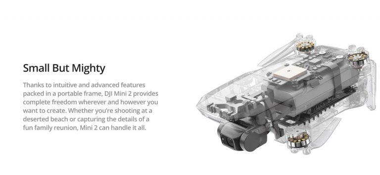DJI va aduce un update de firmware pentru Mini 2 ce repara problema de descarcare rapida a bateriei