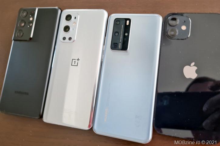 Aflați ce smartphone are cea mai bună autonomie: OnePlus 9 Pro vs Samsung Galaxy S21 Ultra 5G vs Huawei P40 Pro 5G.