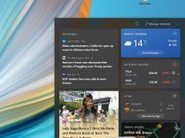 Windows 10 build 19043.1023 aduce noul widget News și Weather pe Windows 10 21H1.