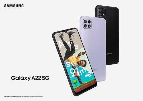Unul dintre cele mai ieftine modele de smartphone-uri 5G este modelul Galaxy A22 5G, cu display de 6.6 inci, baterie de 500 mAh și sistem triplu de camere foto.