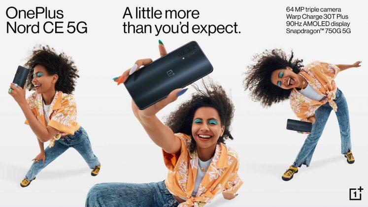 OnePlus Nord CE 5G a fost prezentat oficial: Snapdragon 750 5G, încărcare Warp Charge 30T Plus, cameră de 64MP.