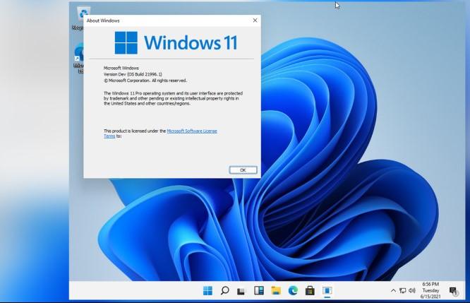 În seara asta au ajuns pe net primele imagini cu Windows 11 și ISO-ul cu build-ul 21996.