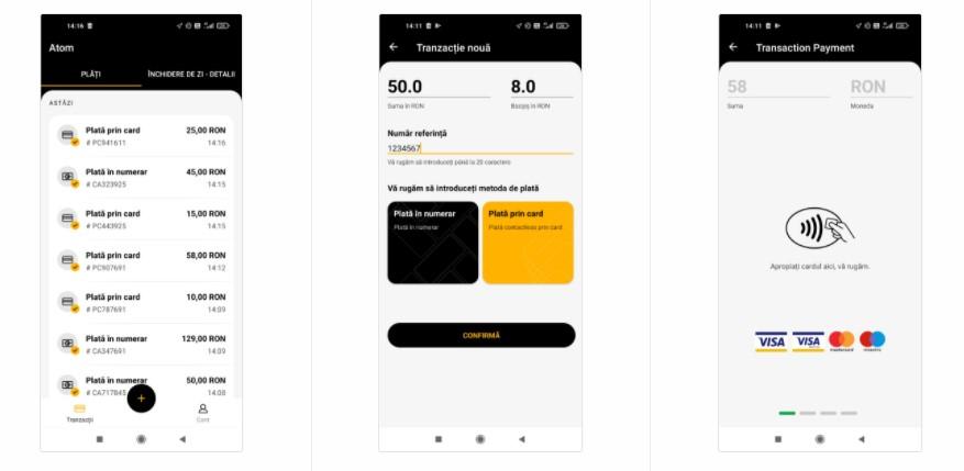 Vodafone România oferă clienților aplicația GP Tom (de la Global Payments) ce transformă telefonul mobil în dispozitiv POS.