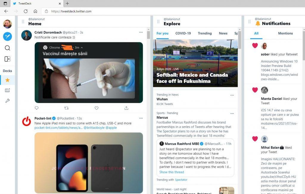 Așa arată noua interfață a clientului Tweetdeck pentru Twitter și pentru că este în stagiul beta, nu e disponibilă default. Dar o poți activa și tu!