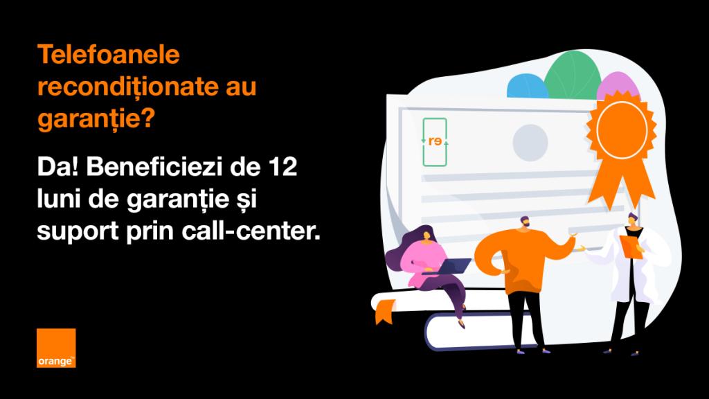 Orange pornește o inițiativă prin care vinde online (împreună cu Recommerce) smartphone-uri premium recondiționate.