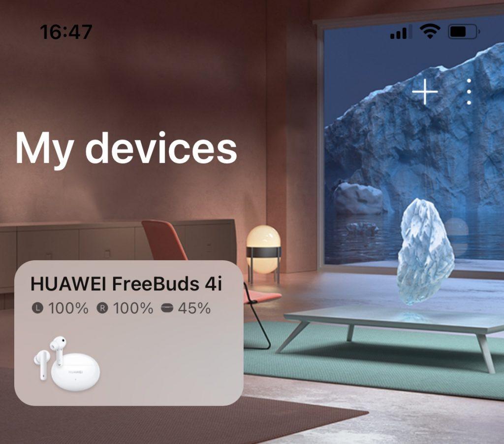 Căștile FreeBuds 4i au primit integrarea cu aplicația Huawei AI Life de pe iOS odată cu firmware-ul 1.9.0.182 și opțiunea wear detection.