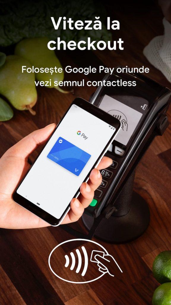 De astăzi soluția Google Pay de plată wireless cu telefonul e disponibilă oficial în România.