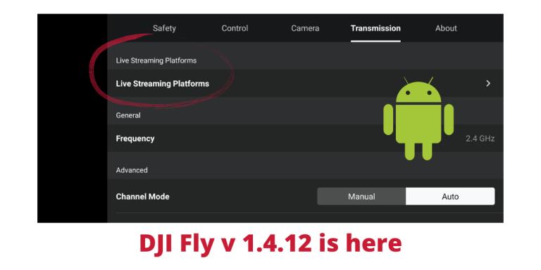 DJI Fly 1.4.12 introduce optiunea de Live Stream