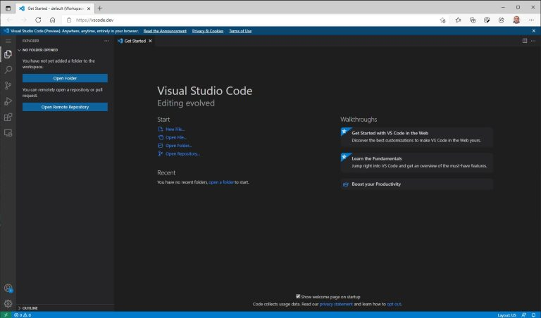 Microsoft ofera Visual Studio Code in varianta online, direct din browser